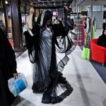Kubra al-Qaseer presenting her Abaya Collection at a Bridal Exhibition in Dubai