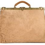 camel skin leather handbag