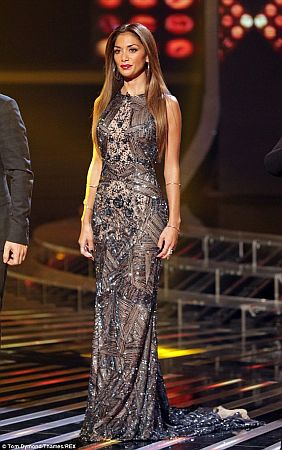 Nicole Scherzinger wears AIISHA Couture at the X-Factor