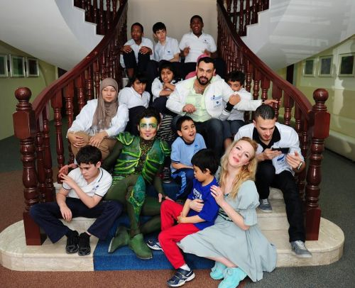 Peter Pan and team at Dubai Autism center