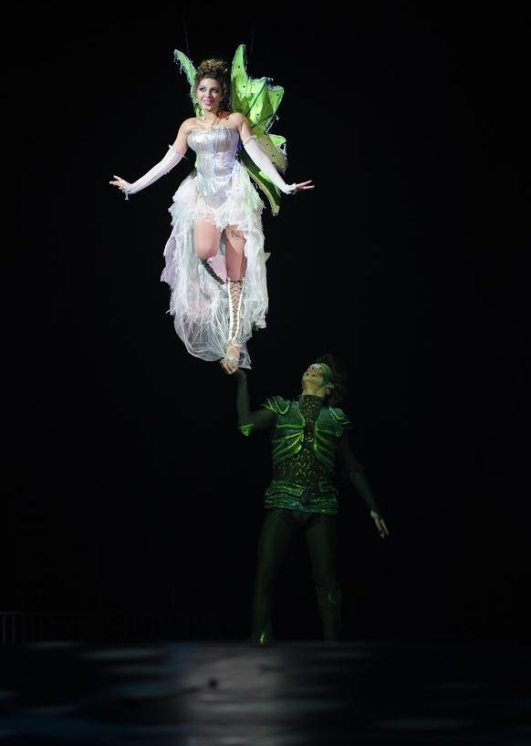 peter pan and tinker bell flying