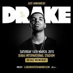 Drake to do a Live Concert in Dubai in March