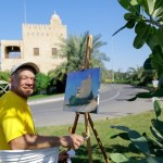 Crimean artist Igor Shipilin trains Abu Dhabi students in landscape painting techniques