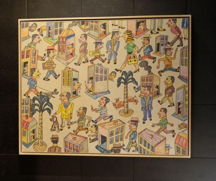 Antonio Segui art at Opera Gallery Dubai