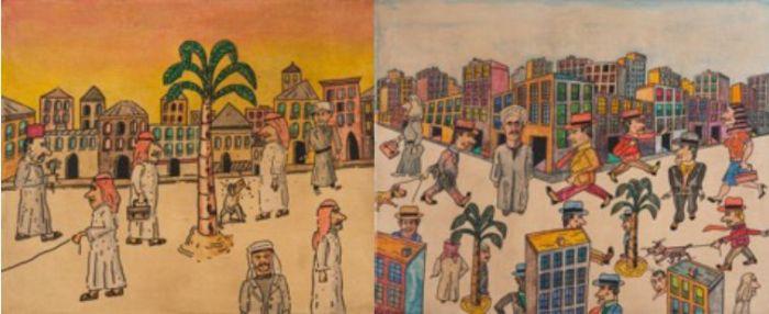 Antonio Segui artwork at Opera Gallery Dubai