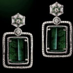 Gemfields collaborates with Narayan Jewelers to create unqiue pair of Zambian emerald earrings