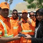 La Moda Sunglasses, Emirates NBD, and Dubai Municipality partner to distribute sunglasses to laborers