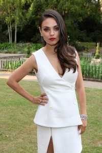 mila kunis attends ruby launch party london