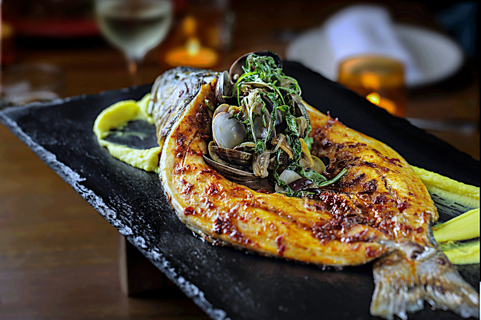 Whole Roasted Sea Bass