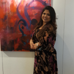 Experience Sanaa Merchant's take on contemporary Arabic Calligraphy on exhibition at  Z Gallery in Four Points by Sheraton.
