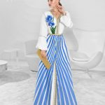 Get inspired by Mayssa Maghrebi in signature Selma Benomar Caftans this Eid