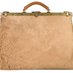 camel skin leather handbag