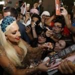 Lady Gaga at Dubai Airport